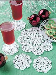Snowflakes Doily & Coasters Kit