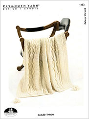 Cabled Throw Knit Pattern