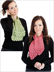 Crocodile Stitch Scarves