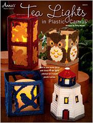 Tea Lights in Plastic Canvas
