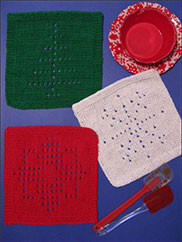 Winter Days Knit Dishcloths